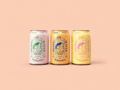 Mikkeller Sparkling Alcoholic Water branding and identity beer label art typography design lifestyle illustration sparkling beer logo branding packaging