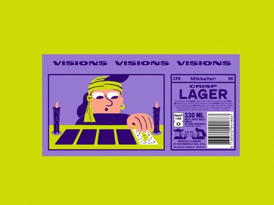 Mikkeller Visions beer label drawing can art product design branding and identity logo label package design packaging lifestyle typography beer illustration branding design art graphic design dimension color