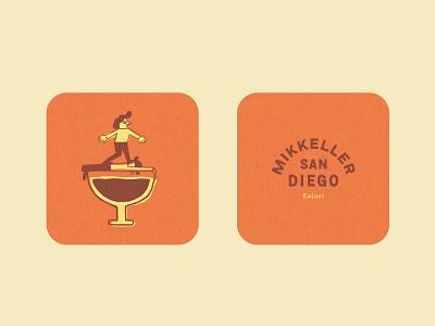 Mikkeller San Diego Coaster logo graphic hand drawn printdesign print illustration typography graphicdesign branding design process concept