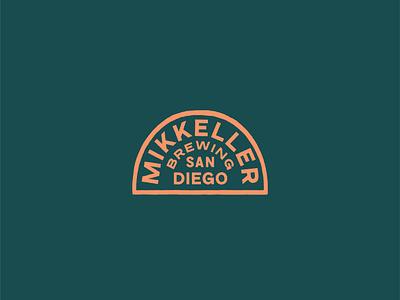Mikkeller San Diego Badges illustration marks badges color branding typography vector logo graphic design
