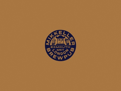 Mikkeller Brewpub London beer typography drawing illustration wordmark design branding logo