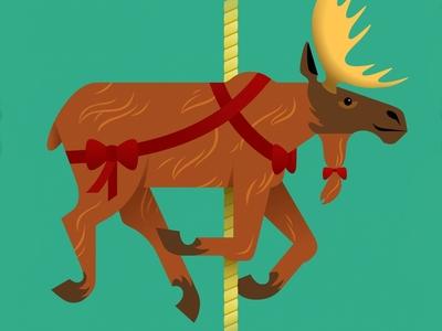 Carousel Moose