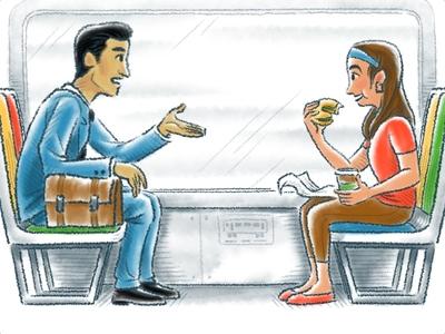 Train conversation.