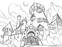 Castle Background Design