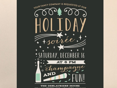 holiday soirée party invite by cecile kotsch dribbble dribbble