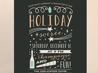 Holiday Soirée Party Invite