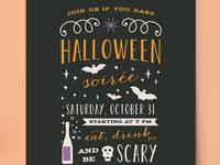 Halloween Soirée Invite