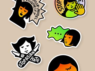 Sticker Pop-Up Shop is Live! stopasianhate stopaapihate hateisavirus sticker illustration protest design