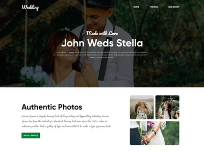 Landing Page For Wedding Website typography webdesign design graphicdesign