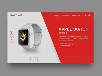 Watches Website Landing Page landing page design landingpage graphicdesign design web design webdesign ux ui