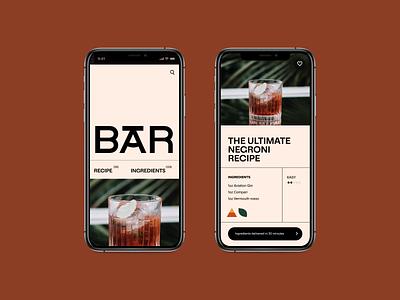Bar Recipe App app recipe