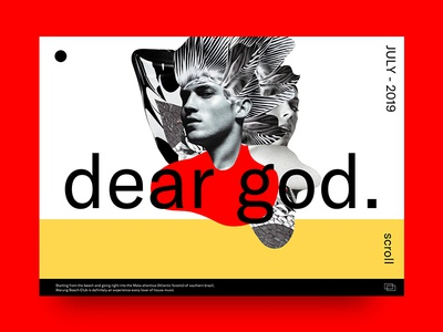 Dear God brand and identity typography collage design illustration