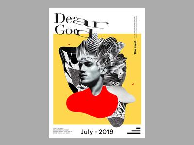 Dear God. brand and identity typography illustration design