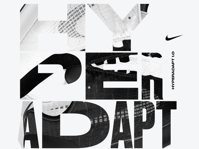 Key Visual type illustration identity hyperadapt nike