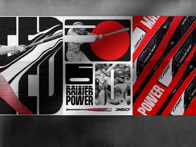 Easton® visual concept branding key visual easton baseball