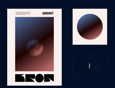 GRDNT ® KRON amadine brand and identity illustration