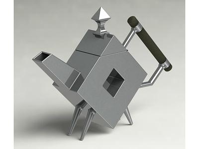 Design Icons in 3D: Christopher Dresser's Teapot rendering solidworks modeling 3d