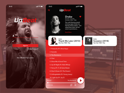UpBeat Music Player Concept