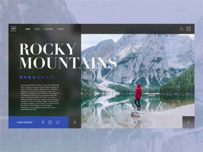 Rocky Mountains Web design