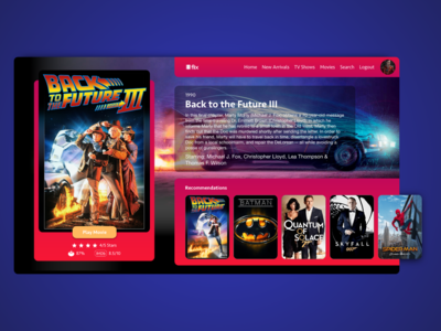 Flix User Movie Interface GUI