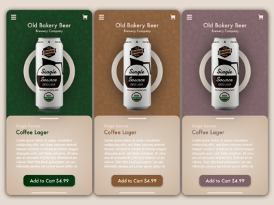 Coffee Drink Lager Palette