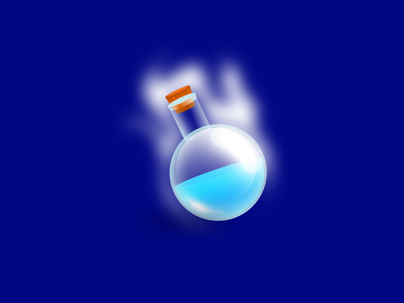 Blue Mana inventory icon android ios magic power video games games rpg photoshop adobe illustrator designer affinity mana blue
