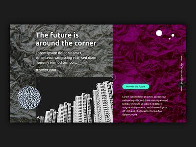Future website futuristic creappy creative chaos typography minimal ux ui web design future