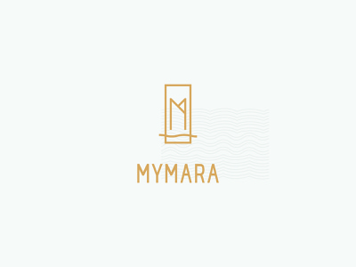 MyMara typography color magic apartments lake real estate agency hotel design branding logo