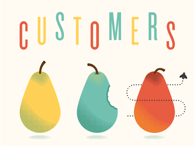 Cover slide for Aarron's Coffee Hour bitmap pears knockout mailchimp