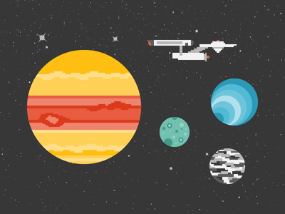 Space: the final frontier. space jupiter io europa callisto ncc-1701 star trek stars moons planets pixels