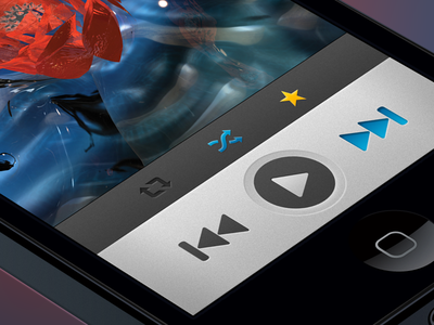 Broadcasting + Listening Views iphone ios ux ui gui spotify app interface