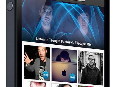 Fliptape Side View – version 2 spotify ui ux iphone ios mix popular