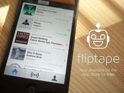 Fliptape On Dribbble iphone ios ux ui gui spotify app interface app store fliptape free radio