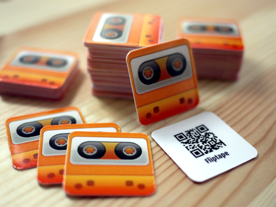 App2Card for Fliptape app2card fliptape spotify ios iphone business card print logo icon