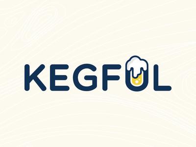 Kegful logo ios logo app concept beer type pint drink keg