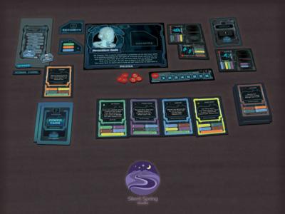 """Design elements for card game """"PS:CSA"""" card interface logo concept logo presentation card games card game tabletop graphic  design design card design"""