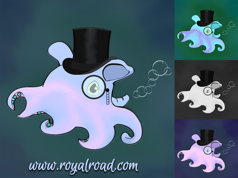Illustration Dumbo Octopus picture avatar cover logo illustration drawing