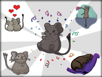 Illustrations of degu animal