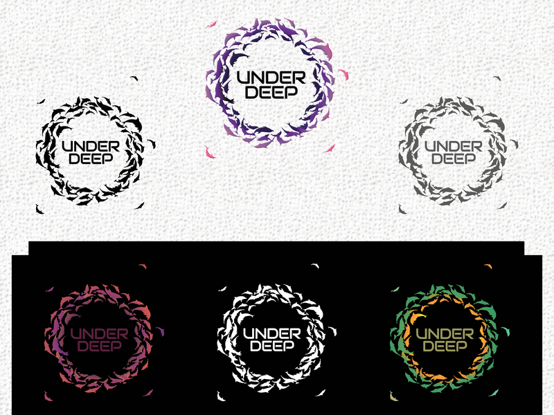 Logo Under Deep youtube logo youtube channel design brand identity brand design logo presentation logo design branding brand and identity logo design logo