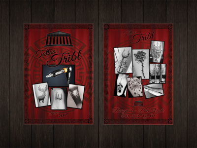 Flyer design Tribl Tattoo Studio studio design design art sheet fly sheet leaflet design leaflet photoshop flyer designs flyer artwork commercial photography flyers brochure design brochure flyer design flyer design
