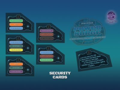 Security Tiles Card for card game