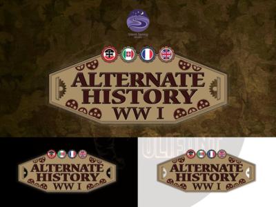 "Logo for card game ""Alternate History WW1"" concept brand and identity logo design branding card game card logo presentation graphic  design design logo logo design"