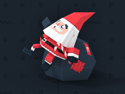 Papertoy - Santa santa paper toy christmas gift glue diy joy