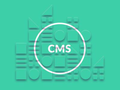 CMS DESIGN sienn shadows green web design simple squares circles graphic design geometric
