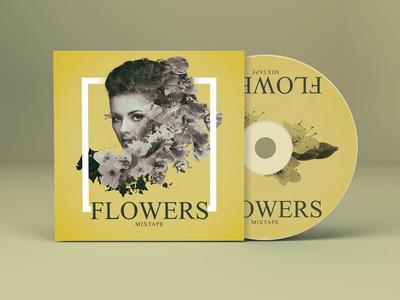 Flowers - Album Cover Design music album art music art album cover design dlowers cover design album cover album illustration design branding music concept