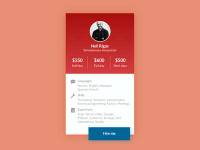 Daily UI - 006 User Profile