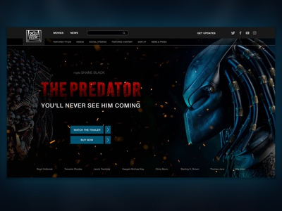 "Promo site for the movie ""Predator"""
