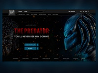"Promo site for the movie ""Predator"""