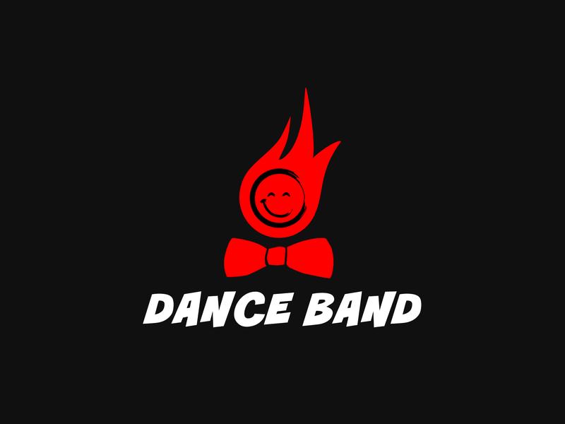 "Logo ""Dance Band"" branding typography logo vector illustration flat design"