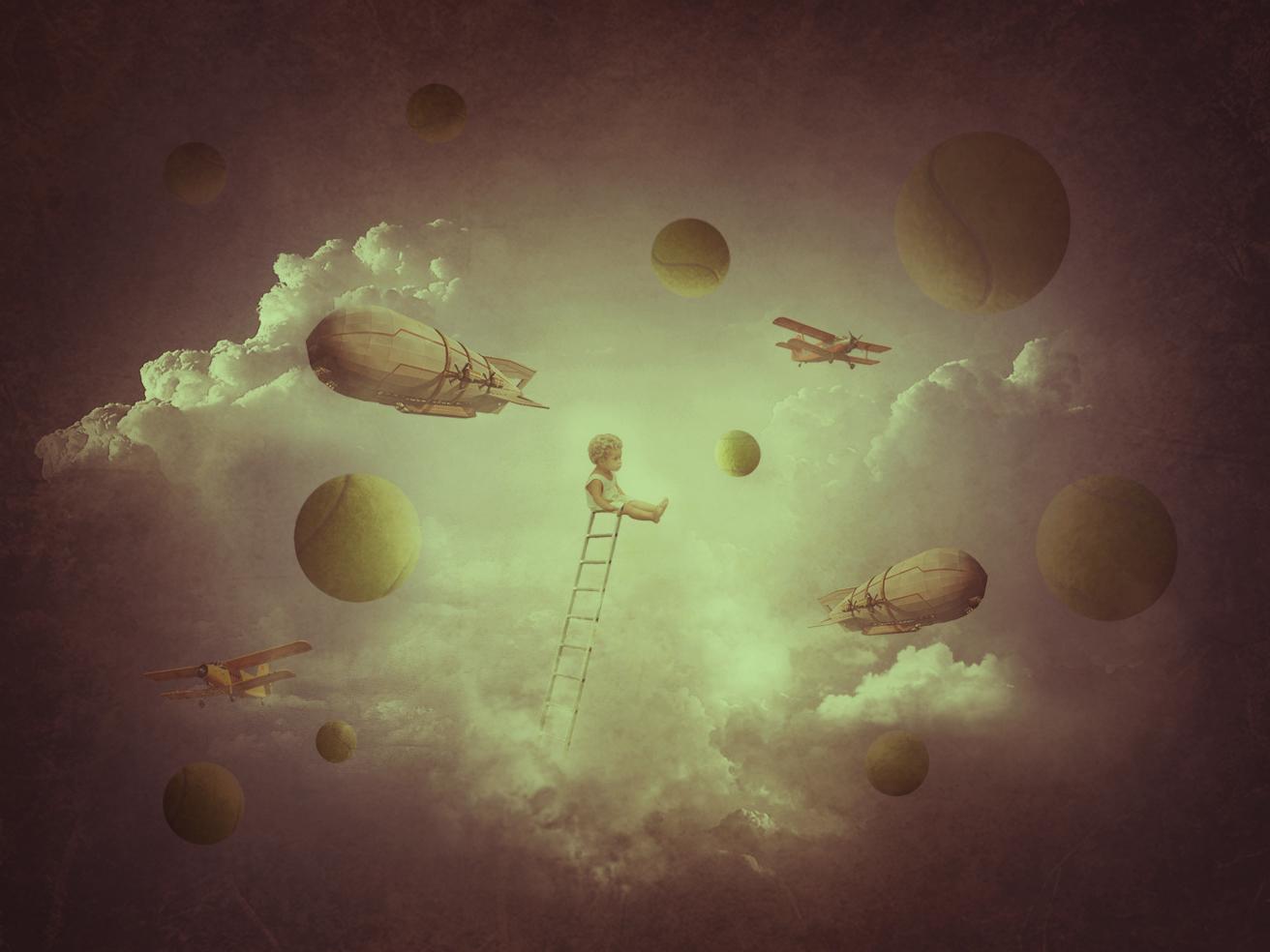"Collage "" Children's dreams"" collage art illustration photoshop design"
